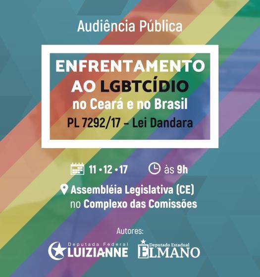 Audiência Pública debate LGBTCídio no Ceará e no Brasil